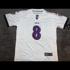 Lamar Jackson #8 Baltimore Ravens Jersey NFL100